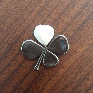 Jewelry - Sterling Silver Real Shamrock Pendant